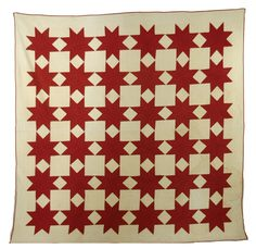 antique red and white star quilt..19th century..$234.