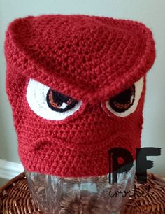 Feeling a little angry? Crochet this fun Inside Out inspired Anger Hat! Make it with Lion Brand Heartland!