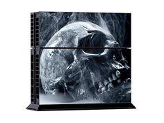PlayStation 4 Designfolie Sticker Skin Set für Konsole + 2 Controller - Skull Old