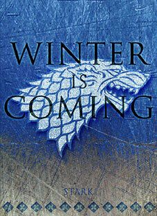 Posters by Scar Design. Winter is Coming Metal Print TV Show Metal Poster by Scar Design. House Stark Banner, Game Of Thrones Poster, Game Thrones, A Dream Of Spring, Fantasy Tv Shows, The Winds Of Winter, A Clash Of Kings, A Dance With Dragons, Valentines Gifts For Him