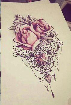 Znalezione obrazy dla zapytania mandala rose tattoo