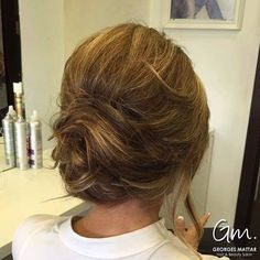 Loose+Chignon+For+Shorter+Hair