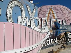 Mid century modern signage at the Neon Museum in Las Vegas...want for my garden!