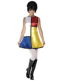 The 1960s Mondrian Style Dress