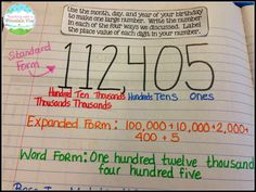 Teaching With a Mountain View: Teaching Place Value. Interactive notebook output.