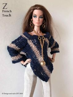Fashion Royalty Outfit FR2 - Z French Touch- Handmade OOAK Designer doll clothes | eBay Z French Touch-OOAK Handmade, Designer Outfit for Fashion Royalty dolls, FR2, | eBay #ZFrenchTouch #ClothingandAccessories #DollClothes #DesignerDollOutfit #DesignerDollClothes #FRfashion #FR2Fashion