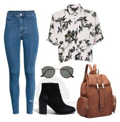 """""""Untitled #378"""" by camibg on Polyvore featuring River Island, Topshop, Ray-Ban and Dasein"""