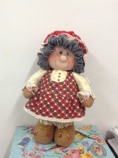 Holly Hobbie, Crochet Hats, Art, Canvas, Holiday Ornaments, Decorations, Home Workshop, Elves, Cloth Art Dolls