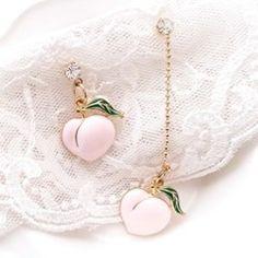 [우아한 공방] 피치피치 이어링 Simple Earrings, Dangle Earrings, Kids Jewelry, Jewelry Accessories, Peach Makeup, Jewelry Photography, Designer Earrings, Ear Piercings, Fashion Jewelry