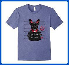 Mens Funny Bad Dog Halloween devil Pug Dog In Jail Tees 3XL Heather Blue - Holiday and seasonal shirts (*Amazon Partner-Link)