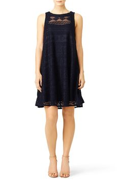 Rent Navy Embroidered Lace Shift by Slate & Willow for $30 - $50 only at Rent the Runway.