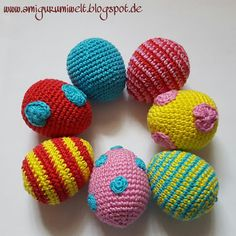 Wundervolle Amigurumi Welt: Ostereier, Easter Eggs - free pattern (de)