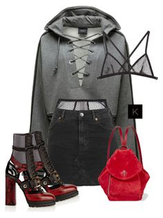 """""""Untitled #3857"""" by kimberlythestylist ❤ liked on Polyvore featuring Puma, Fleur du Mal, Topshop and MANU Atelier"""