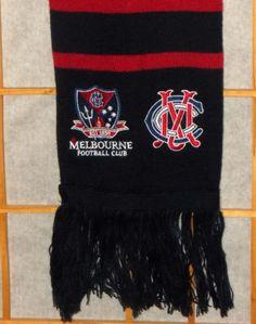 Melbourne Football Club Afl Australian Rules 2013 Member/Mcc Scarf Cricket Club