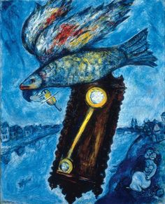Marc Chagall  [French, born Russia (present-day Belarus), 1887-1985] Time is a River without Banks, 1930–1939 Oil on canvas, 39-1/4 × 32 inches