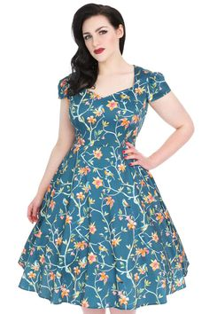 Brand new style for Spring/Summer 2017! The dress features a full 1950s style flared skirt, with...