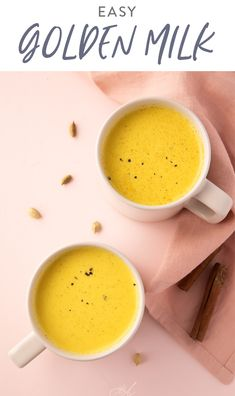Golden milk is a delicious healing drink made with anti-inflammatory turmeric and other warming spices. Perfect before bed or anytime you want a healthy drink that's caffeine-free. Vegan and paleo. The warm version of my popular Iced Golden Milk! Yummy Drinks, Healthy Drinks, Healthy Eating, Fancy Drinks, Healthy Smoothies, Smoothie Recipes, Healthy Food, Milk Recipes, Vegetarian Recipes