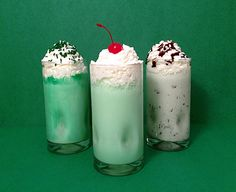 Three Homemade Shamrock Shake Recipes