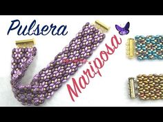 Butterfly Bracelet with Superduo Beads - YouTube