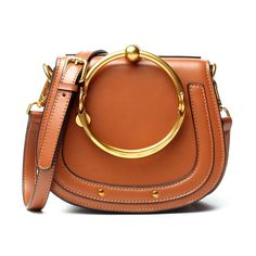 61d01039c5e4 Best Seller ACTLURE Women O Loop Small Leather Saddle Shaped ...