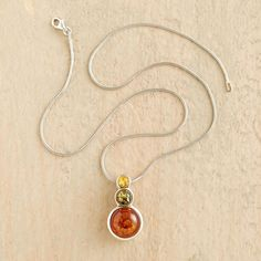 Tricolor Baltic Amber Necklace