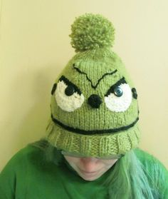 Green Mean One Knit Hat - Grinch