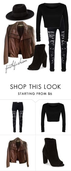 """Untitled #253"" by faithfashionash on Polyvore featuring Kenneth Cole, Steve Madden and Maison Michel"