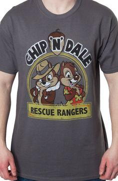 Chip n Dale Rescue Rangers Logo Mens T-Shirt: Disney Afternoon