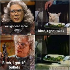 Madea Humor, Madea Funny Quotes, Funny Picture Quotes, Funny Animal Memes, Stupid Funny Memes, Funny Laugh, Funny Relatable Memes, Funny Posts, Hilarious