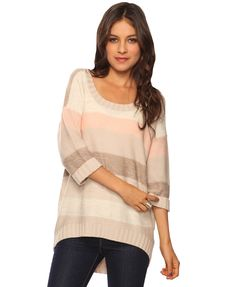 over sized sweater, yes please.