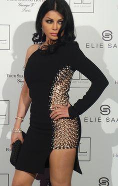 Haifa Wehbe in Balmain dress ❤ ℒℴvℯ Haifa Wehbe, Sexy Dresses, Short Dresses, Elegant Dresses, Evening Dresses, Arabian Women, Arabian Beauty, Arab Celebrities, Balmain Dress