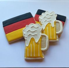 Oktoberfest Beer Mug & German Flag Decorated Sugar Cookies - Party Favors…