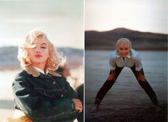 Marylin Monroe on the set of The Misfits, 1960 (via MPTV images).