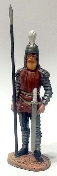 "Cavaliere dei Catafratti partici (persiani), I secolo a.C,, numero 59 di ""Roma e i suoi nemici"" (2010 Vadis) #Miniatures #Figures #AncientRome #OspreyPublishing"