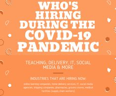 Wondering who is hiring during the coronavirus pandemic? Here are the companies and industries hiring. Money Tips, Money Saving Tips, Hiring Now, Find A Job, Working Moms, Finance Tips, Personal Finance, How To Make Money, Health Fitness