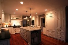 This highly-customized kitchen showcases the versatility of Shiloh cabinetry.