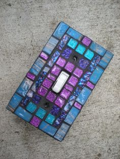 Mosaic Light Switch Cover Turquoise Teal and by MariposaMosaics, $18.00