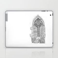 Medieval Church Window Laptop & iPad Skin by Rainer Steinke - $25.00 church window drawing pencil bleistift zeichnung fenster kirche mittelalter medieval #church #window #drawing #pencil #bleistift #zeichnung #fenster #kirche #mittelalter #medieval