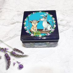 Handpainted Wooden box girls jewelry box wooden jewelry box kids jewelry box dog lovergift chihuahua standing jewelry box small boxes (28.00 USD) by folkgifts