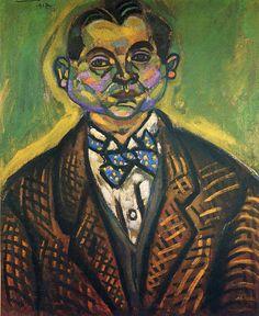 Self-Portrait, Joan Miró, Self-Portrait, 61 cm/ 50 cm (1917)