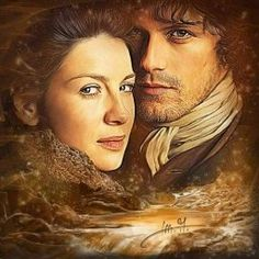 Jamie and Claire ~ by Martina A. Outlander Fan Art, Outlander Season 1, Sam Heughan Outlander, Outlander Characters, Scottish Warrior, Diana Gabaldon Outlander Series, Outlander Tv Series, Samheughan, Great Love Stories