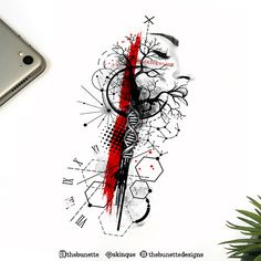 Abstract Tattoo Designs, Tattoo Design Drawings, Tattoo Designs Men, Dna Tattoo, Leg Tattoo Men, Sleeve Tattoos, Arte Trash Polka, Tatuagem Trash Polka, Arte Viking