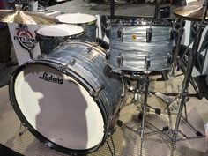 """Ludwig Drums Legacy Mahogany Series Kit, Vintage Sky Blue Pearl Finish, """"The Beast"""" Configuration (Jon Bonham) Ludwig Drums, Drum Kits, Drummers, Blue Pearl, Musical Instruments, Beast, Sky, Rock, Classic"""