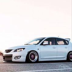 Scrape'n...  Via Instagram @mazda_militia. Thank you! Mazda Cars, Jdm Cars, Mazda 3 Hatchback, Rx7, Import Cars, Japan Cars, Car Wheels, Car Manufacturers, Cars And Motorcycles