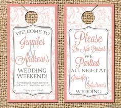 Attractive Do Not Disturb Wedding Door Hangers By CamilleMonacoDesigns
