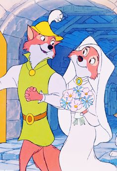 Find images and videos about disney, robin hood and lady marian on We Heart It - the app to get lost in what you love. Disney Nerd, Arte Disney, Disney Love, Disney Magic, Disney And Dreamworks, Disney Pixar, Disney Characters, Disney Couples, Disney Girls