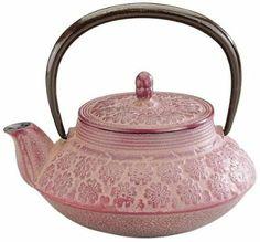 Japanese Tetsubin Cast-Iron Blossoms Teapot