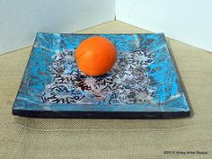 Karma collage plate decor mid century style thick by AntsyArtist