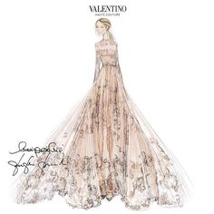 O vestido de Frida Giannini. Fashion illustration,art, style