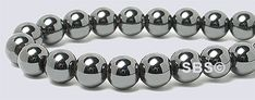 High Power Magnetic Hematite 6mm AAA Grade beads.